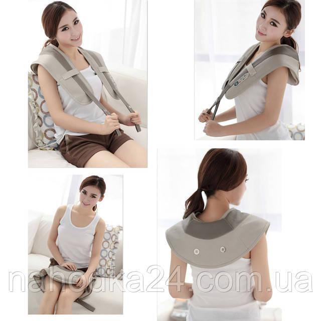 Ударный массажёр для спины, плеч и шеи Cervical Massage Shawls