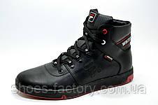 Мужские ботинки на меху в стиле Fila Winter кожа, Black, фото 3