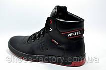 Мужские ботинки на меху в стиле Fila Winter кожа, Black, фото 2