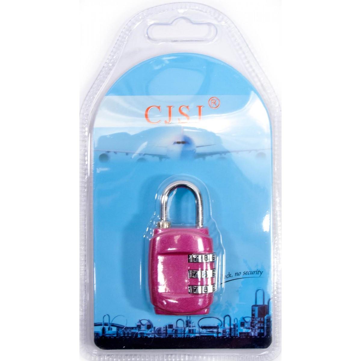 Замок кодовый навесной розовый
