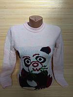 Новогодний теплый свитер со смешной пандой р. 44-48 Турция