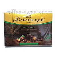 Конфеты шоколадные Бабаевские Dark Cream целый фундук и ореховый крем 200г