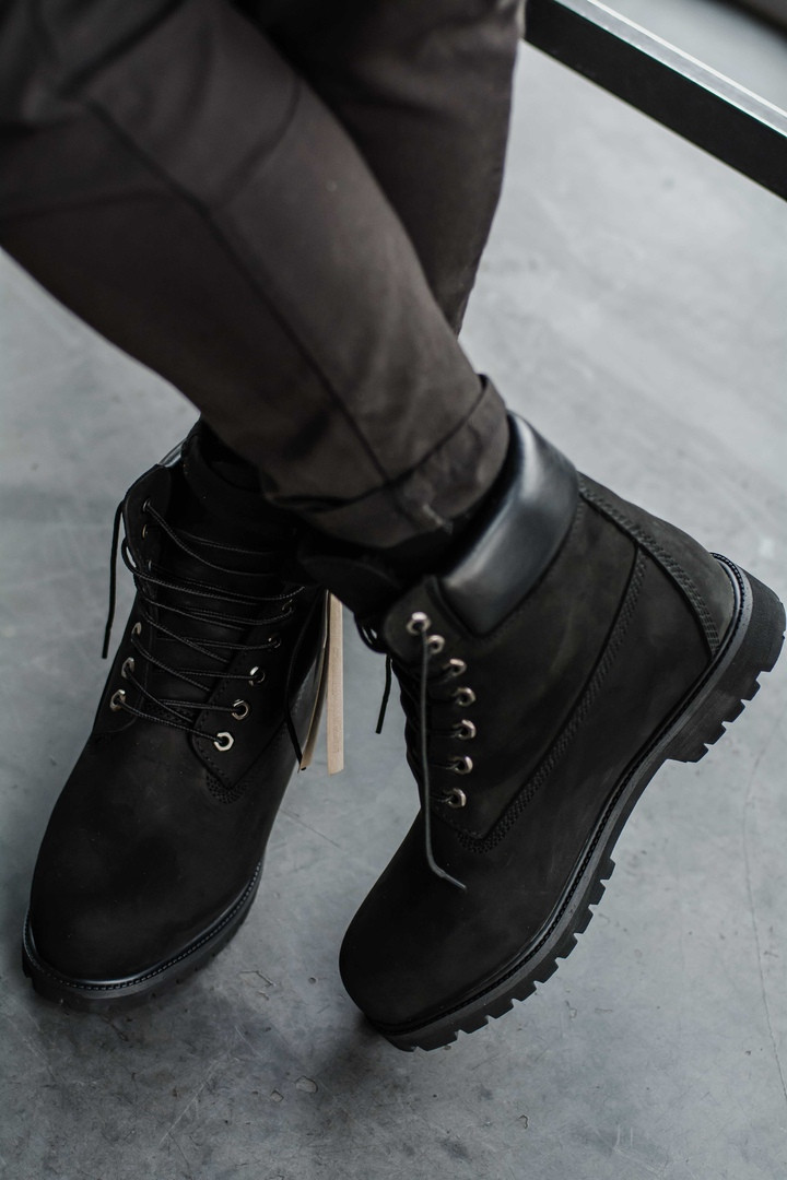 ... Timberland 6 inch Black Boots (USA)  b0b0d8418155b