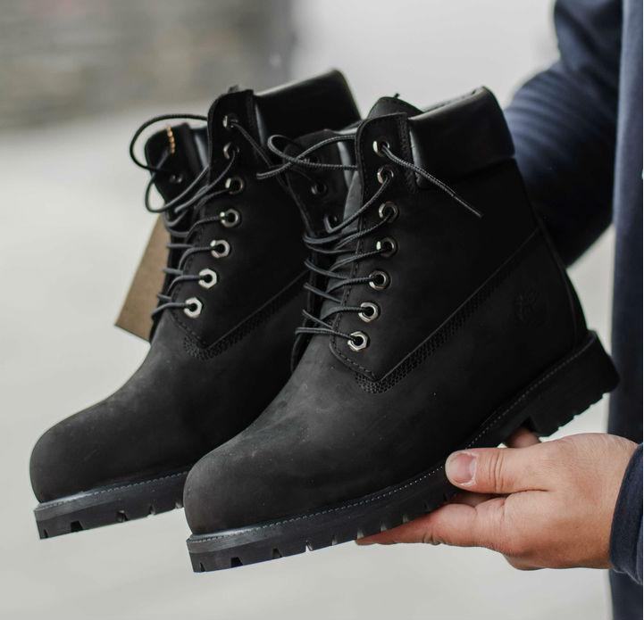 Timberland 6 inch Black Boots (USA)  95d238e2c1956