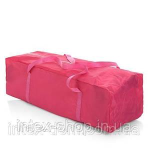 Детский манеж Bambi M 3696-1 игровой вход и карман (розовый), фото 2