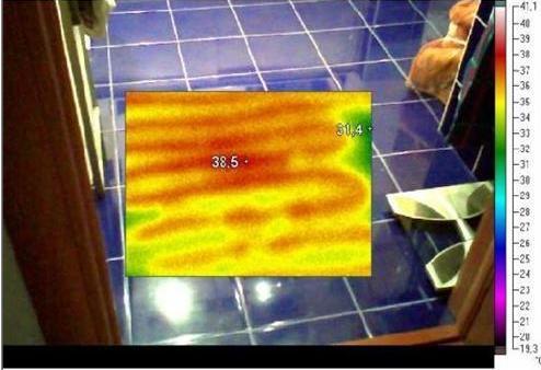 ремонт теплого пола с помощью тепловизора