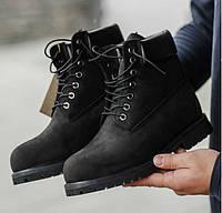 Timberland 6 inch Black Boots (USA)   ботинки с мехом  мужские и женские b254b44dfb4