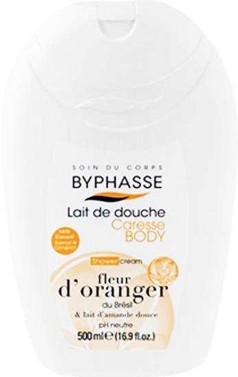 Byphasse крем для душа Orange Blossom and sweet almond milk  (апельсиновый цвет и миндальное молоко) 500мл
