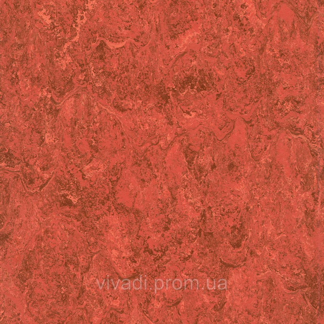 Натуральний лінолеум Marmorette LPX - 121-048 cranberry red