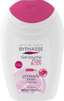 Byphasse Plaisir Shower Gel Pink Pomer Granate (гель для душа розовый померанский гранат) 500мл