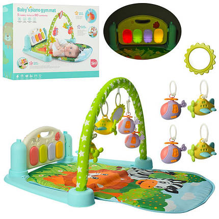 Розвиваючий килимок для новонароджених, музичний килимок арт. 9911, фото 2