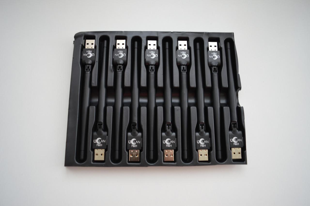 USB WIFI адаптер  uClan со встроенной антенной 2dbi Ralink MT7601 для ПК, Т2, ТВ приставок