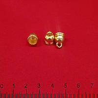 Подвеска колокольчик, ,цвет золото , размер 1,5см