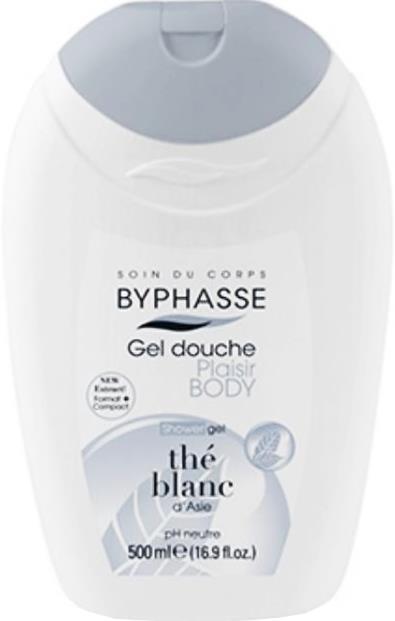 Byphasse Plaisir Shower Gel White Tea(гель для душа белый чай) 500мл