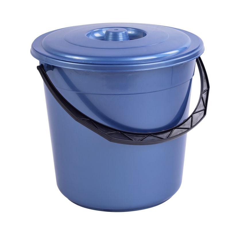 Ведро пластиковое 15л с крышкой