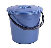 Ведро пластиковое 15л с крышкой, фото 1