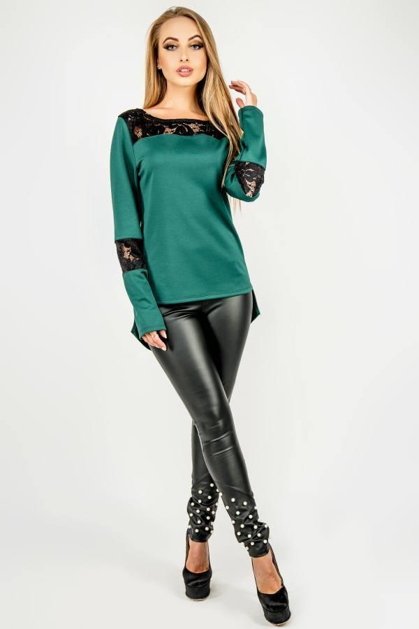Модная туника Лаки зеленый(44-52)
