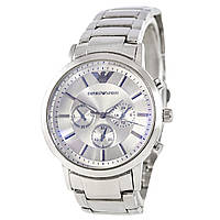 EMPORIO ARMANI Silver-Silver ЧАСЫ Мужские (эмпорио армани серебро - серый)  Чоловічий годинник реплика