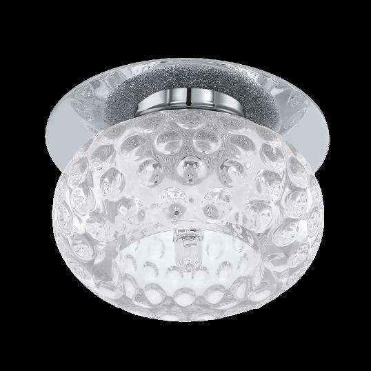 Точечный светильник врезной 92685 EGLO Tortoli 1х20Вт G4 стекло/серебро