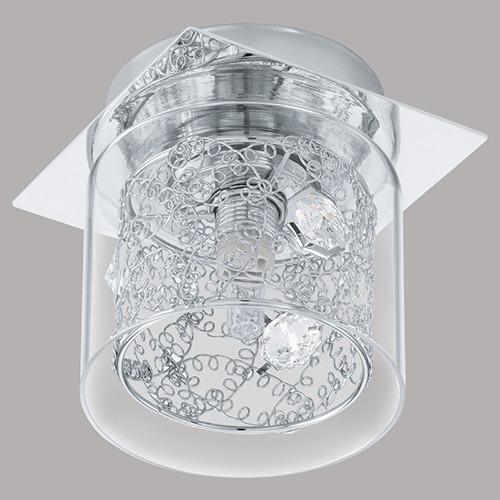 Точечный накладной светильник 91732 EGLO Pianella 1х40Вт G9 стекло/серебро