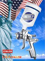 Професійний фарбопульт LVMP верх.пласт.бачок 600мл, 1,7 мм ITALCO H-3003A-1.7 LM, фото 3