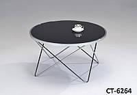 Стильный столик с черной стеклянной столешницей кофейный, сервировочный, прикроватный, офисный
