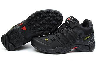 Кроссовки Adidas Terrex 465 Black черные зимние с мехом реплика