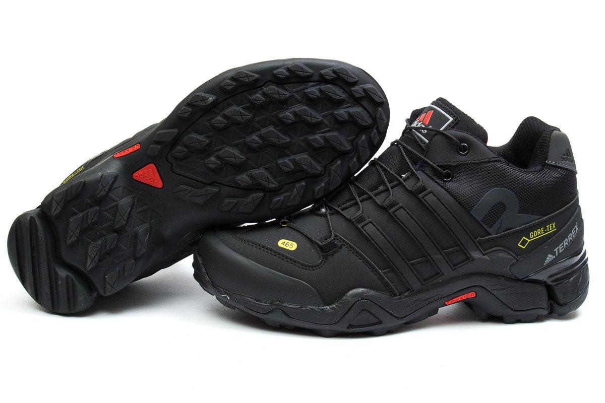 8d186a16 Кроссовки Adidas Terrex 465 Black черные зимние с мехом реплика -  SportBoom.com.ua