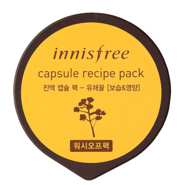 Капсульная маска для лица Canola Honey INNISFREE Capsule Recipe Pack