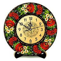 Часы деревянные. Барви літа. Украинский сувенир. Петриковская роспись., фото 1