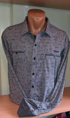 Стильная мужская Рубашка с длинным рукавом приталенная BAGARDA Одесса eeee04a01d1