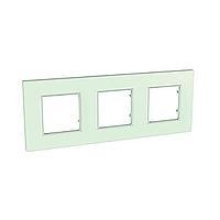 Рамка трехместная Стекло Schneider Electric Unica Quadro (mgu2.706.17), фото 1