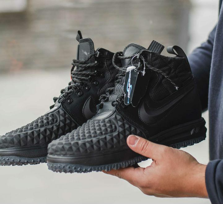 5489d73f Nike Lunar Force Duckboot 2 Black | ботинки/кроссовки мужские; высокие;  черные;