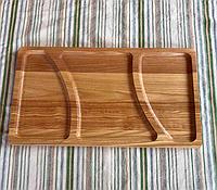 Деревянная менажница на 3 деления 25*35 см