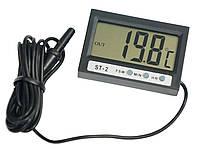 Термометр цифровой Elitech ST-2  -50°C ....  + 70°C  с двумя датчиками температуры. часами (PR0238)