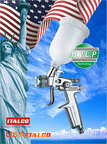 Краскопульт пневматичний тип HVLP верхній пластиковий бачок, 1,0 мм ITALCO H-3003A-MINI-1.0, фото 3