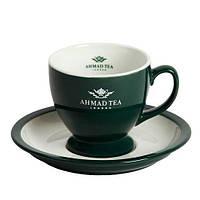 Чайная пара с логотипом, логотип компании на чашке