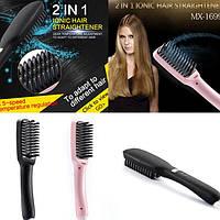 Расческа выпрямитель для волос PTC Heating 2 в 1, расческа для выпрямления, фото 1