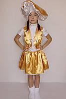 Детский карнавальный костюм  Гриб Лисичка (девочка)