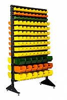 Стеллажи для склада двустор.1800 мм (180 ящ. среднего размера и 36 ящ. больших размеров)