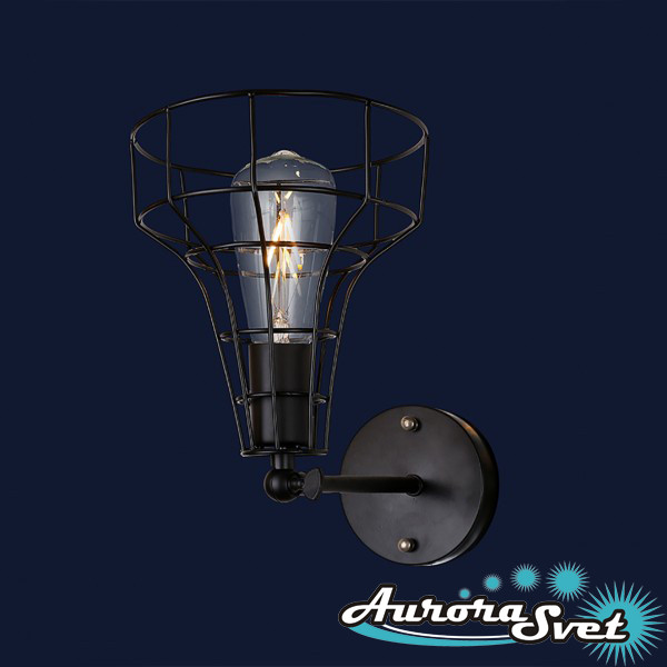Бра настенная AuroraSvet loft 7100 чёрная. LED светильник бра. Светодиодный светильник бра.