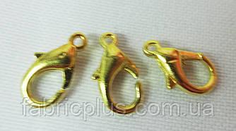 Карабины для бус золото