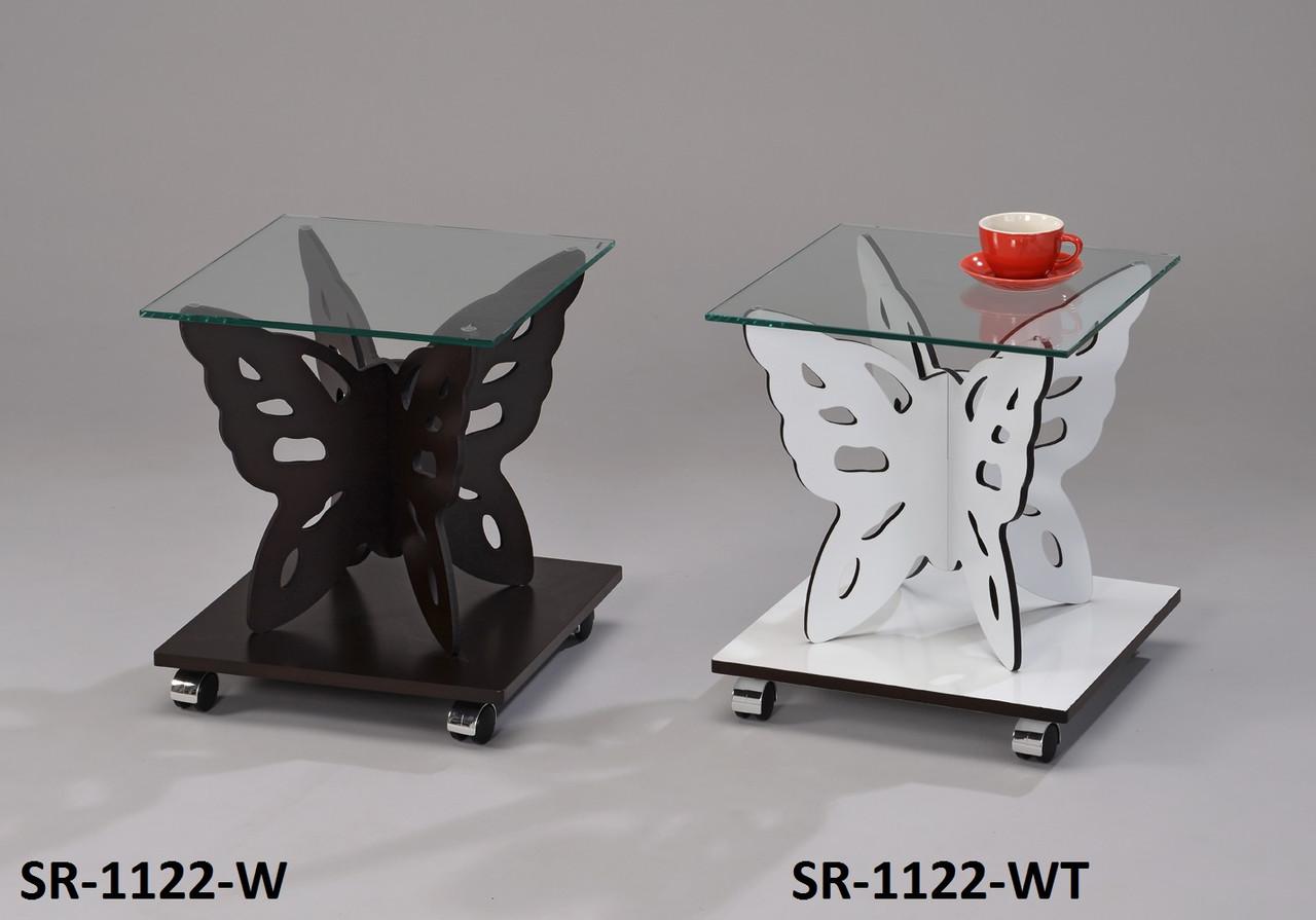 Столик кофейный, сервировочный, прикроватный, офисный Бабочка