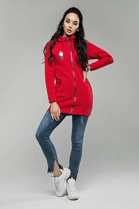 Модный худи с капюшоном Большие размеры от 44 до 54, фото 2