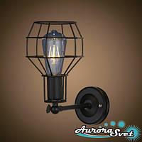 Бра настенная AuroraSvet loft 7200 чёрная. LED светильник бра. Светодиодный светильник бра.