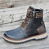 Ботинки мужские зимние кожаные черные (код 3029)