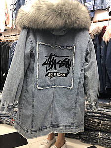 """Парку жіноча зимова джинсова """"World Tribe"""""""