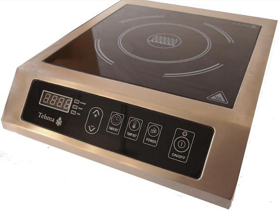 Настільна індукційна плита Tehma 1Кх2,8 кВт, фото 2