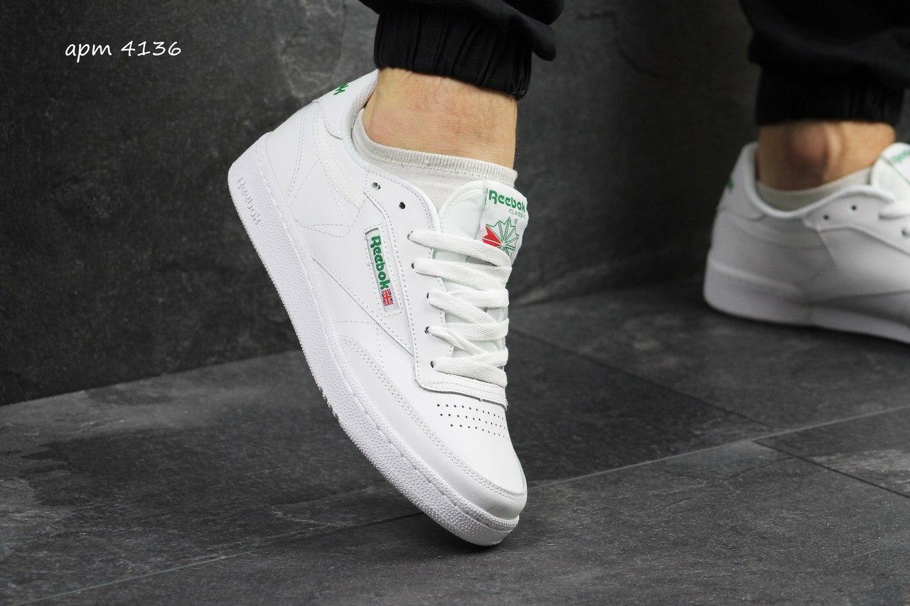 affdd94dea1892 Мужские кроссовки белые Reebok 4136, цена 860,01 грн., купить в ...
