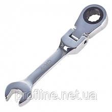Ключ комб. тріскачковий скорочений з карданом 17 мм.Alloid